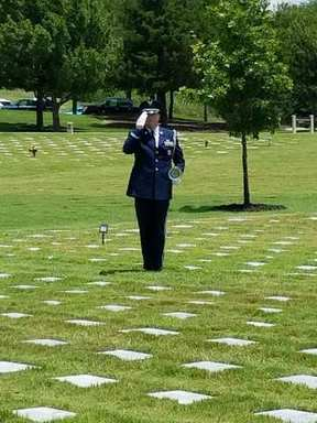 US Air Force Honor Guard at DFW National Cemetery